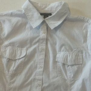 Lot of 2 TOMMY HILFIGER Button Front Shirts Large